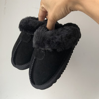 Free Shipping Boys Girl Winter Warm Slippers 100% Leather Australian Style Brand IVG Children's Indoor Slippers EU21~34