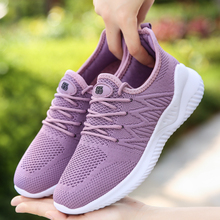 Womens Shoes Fashion Lace-Up Casual Women Sneakers Comfortable Breathable Ladies Running Shoes Light Women's Flat Mesh Shoes 42