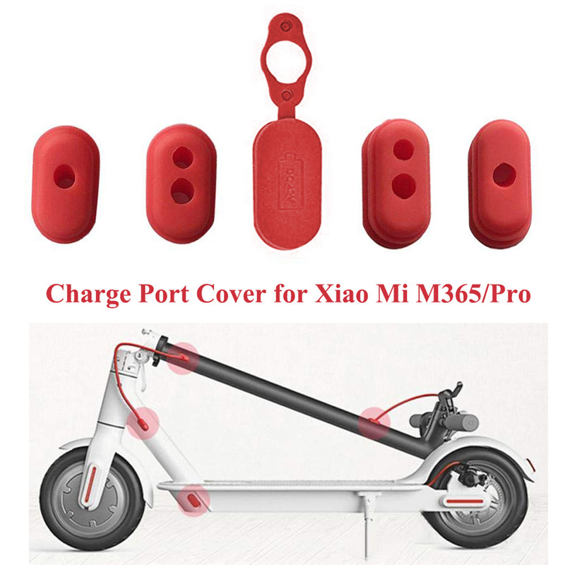 Xiaomi Mijia M365 Electric Scooter Parts 5pcs Case Silicone Cap Electric Scooter Charge Port Cover Dust Plug NEW!