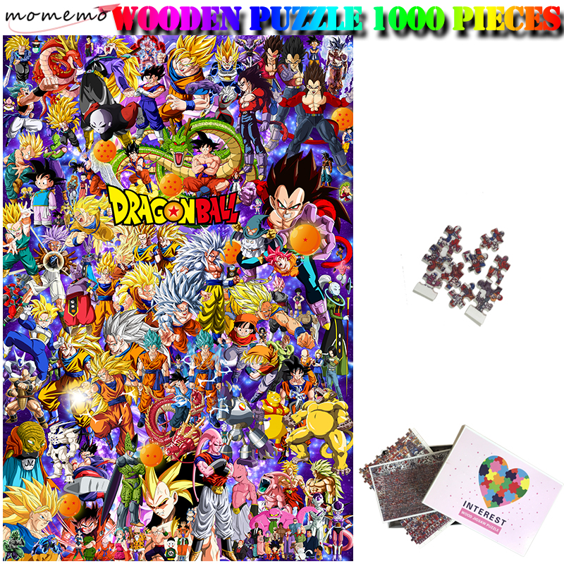 MOMEMO Dragon Ball Wooden Jigsaw Puzzle Customized Adult Puzzle Wooden 1000 Pieces Puzzle Assembling Jigsaw Puzzles Toy For Kids
