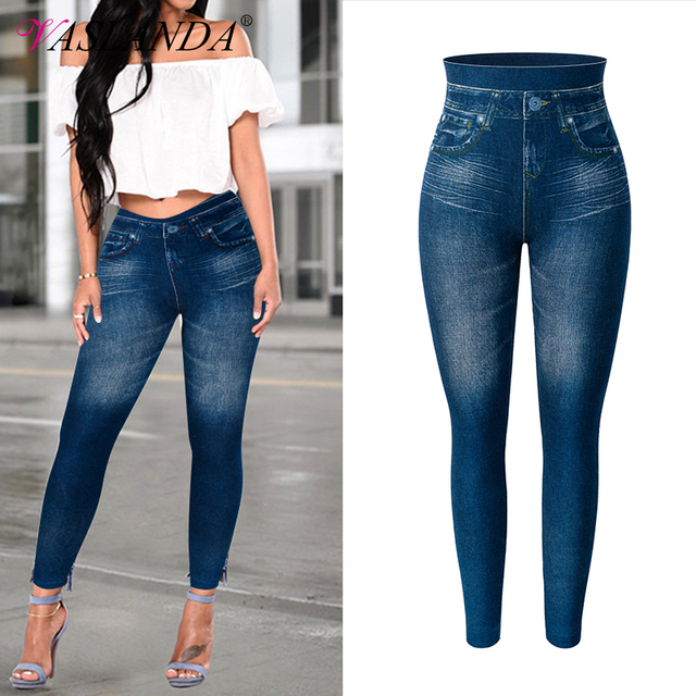 Denim Fitted Jeggings