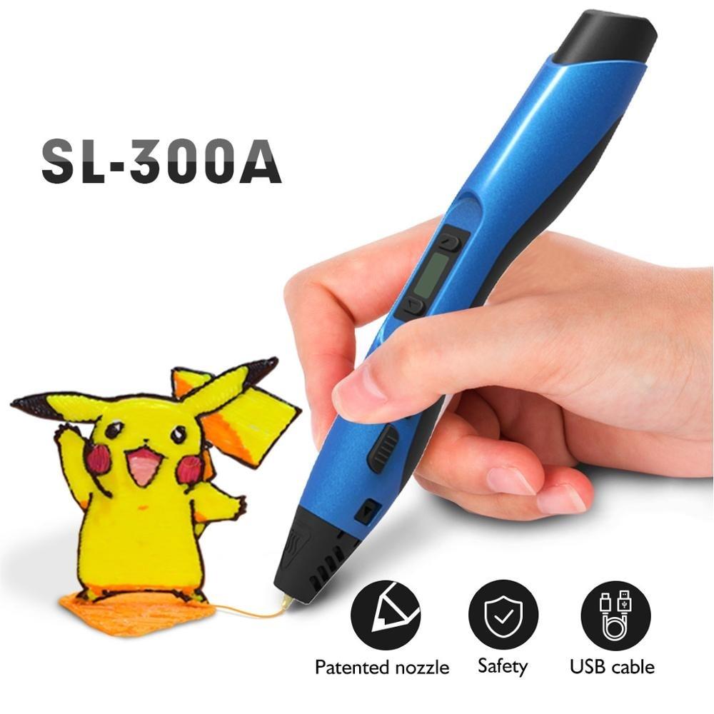 Ручка для 3d-печати KAIGE SL-300A PLA/ABS/PCL, доступная ручка со сверхнизкой температурой, 240 В переменного тока ~ в, образовательные Подарки