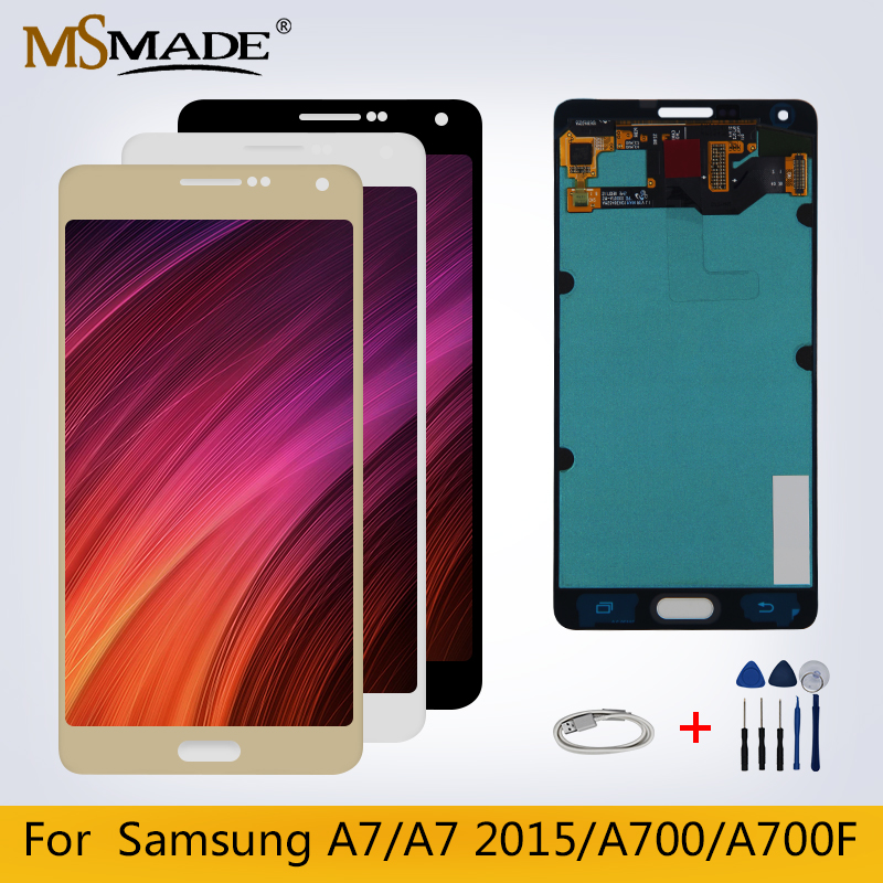 A7 Original LCD For Samsung Galaxy A7 2015 A700 A700F A700FD A7000 LCD Display Touch Screen Digitizer Replacement Parts