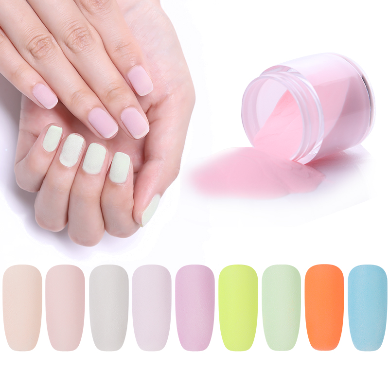 NICOLE DIARY Dipping Nail Powder Without Lamp Cure Dip Nails Powder Nail Color Powder Natural Dry Nail Art Decoration 9 Colors