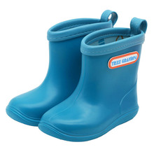 Solid Rain Boots Baby Antiskid PVC Rainy Shoes Toddler Girl Boy Rubber Ankle Boots Waterproof Walking Shoes for Outdoor Playing