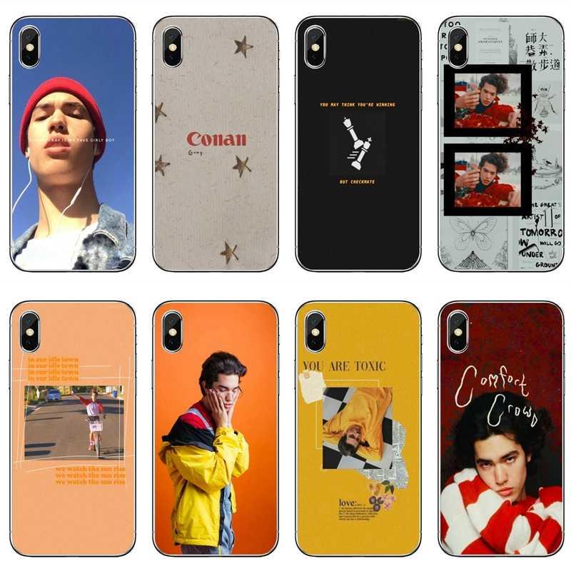 Conan – coque grise avec accessoires pour iPhone, compatible ...