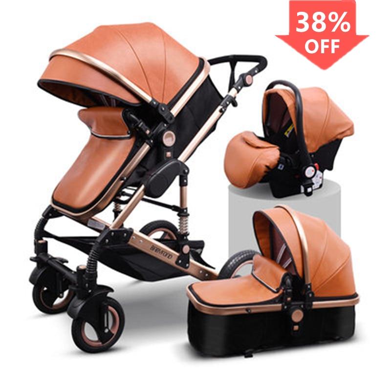 Luxury Baby Stroller High Landview 3 in 1 Baby Stroller Portable Baby Pushchair Baby Pram Baby Comfort for Newborn
