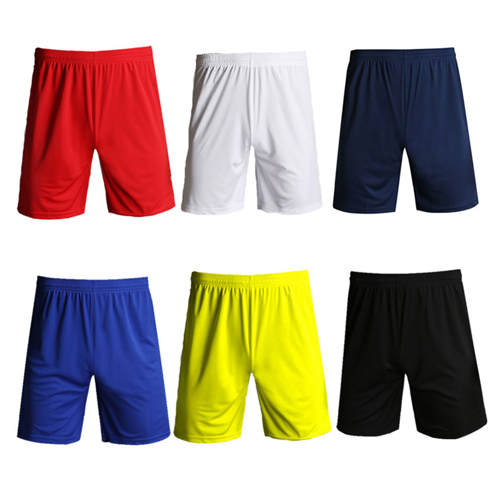 Fitness Jogging Men Shorts Athletic Breathable Elastic Waist Football Solid Casual Sports Training Quick Dry Running Gym