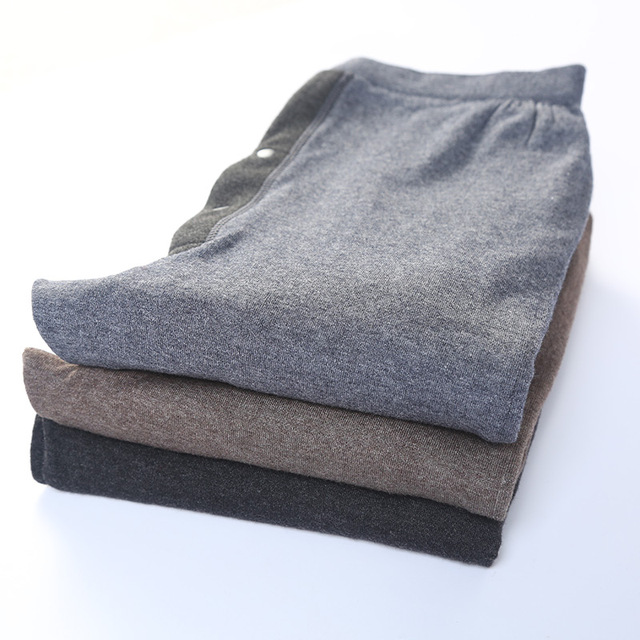 Men Pants 100% Wool Knitting Leggings 2019 New Winter Thick Long Knit Pant for Man 3Colors Male Trousers With Lining 3