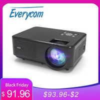 Everycom-miniproyector LED M8 para cine en casa, dispositivo de vídeo HD 720P, portátil, con opción HDMI, Android, wi-fi, compatible con FHD 1080P