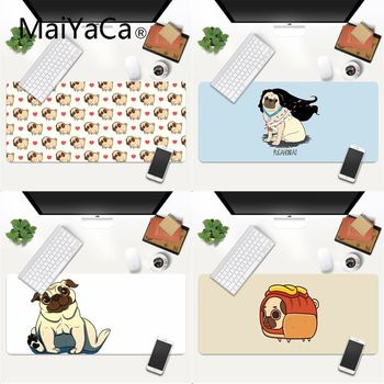 MaiYaCa Your Own Mats Cute Cartoon Pug Rubber Pad to Mouse Game Gaming Mouse Pad Large Deak Mat 700x300mm for overwatch/cs go