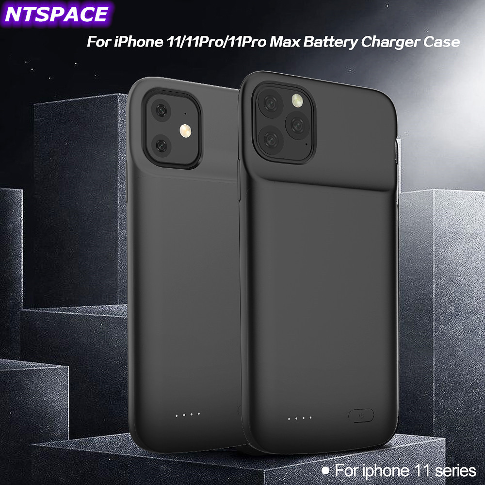 For iPhone 11 Pro Max Power Bank For iPhone 11 Pro Battery Case Extenal Battery Power Bank Pack Liquid Silicone Shockproof Cover