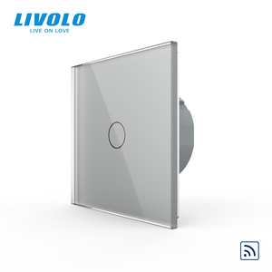 Image 4 - Livolo EU Standard Crystal Glass Panel 220~250V 2gang wireless Wall Light Remote Touch Switch+LED Indicator,remote control
