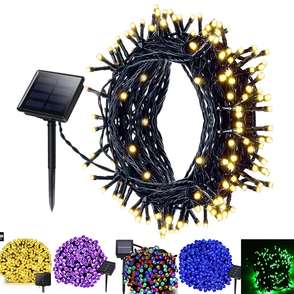 22M 200LED Solar Christmas String Lights Festival Lights For Party Wedding Garden Christmas Tree Decoration