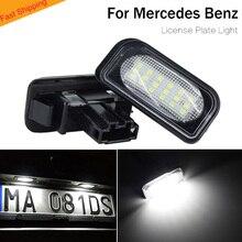 цена на LED License Plate Light lamp for Mercedes-Benz W203 4D Sedan W209 2038200066 A2038200066 for benz number Plate Light Car auto
