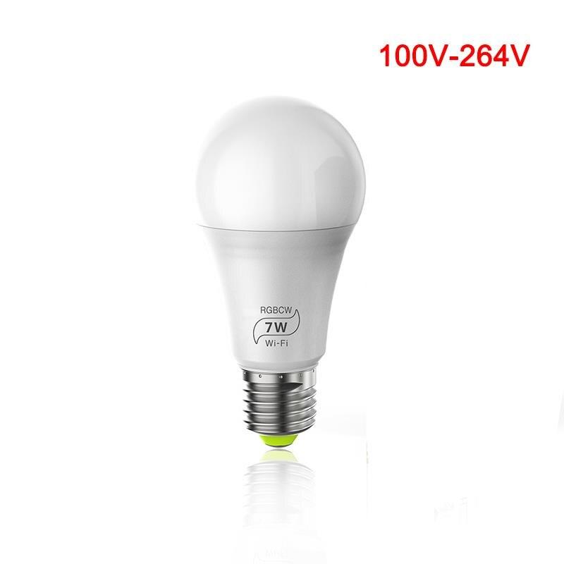 E27 WiFi умный светильник, Диммируемый, многоцветный, Wake Up светильник s, RGBWW светодиодный светильник, совместимый с Alexa Google Assistant - 5