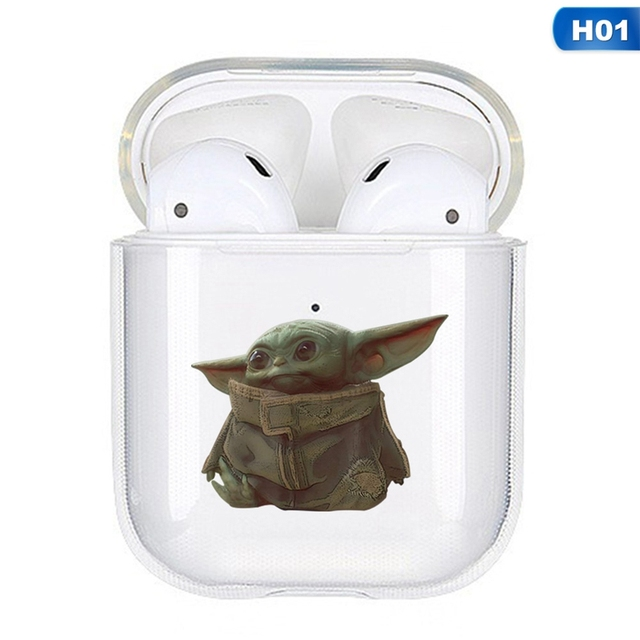 Star Wars Baby Yoda Transparent Silicone Case For Apple Airpods 1