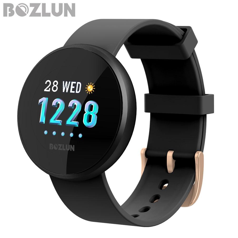 Bozlun mode femmes montre numérique intelligente femme période rappel HeartRate étanche montres Colories étape beauté montre-bracelet B36