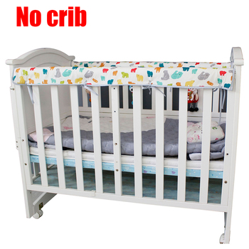 Cartoon Printed Infant Cover Baby Safe Nursing Wrap Protective Crib Bumper Anti Collision Rail Teething Guard Cotton Blend Home
