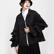 Женская Весенняя куртка большого размера свободная Черная с