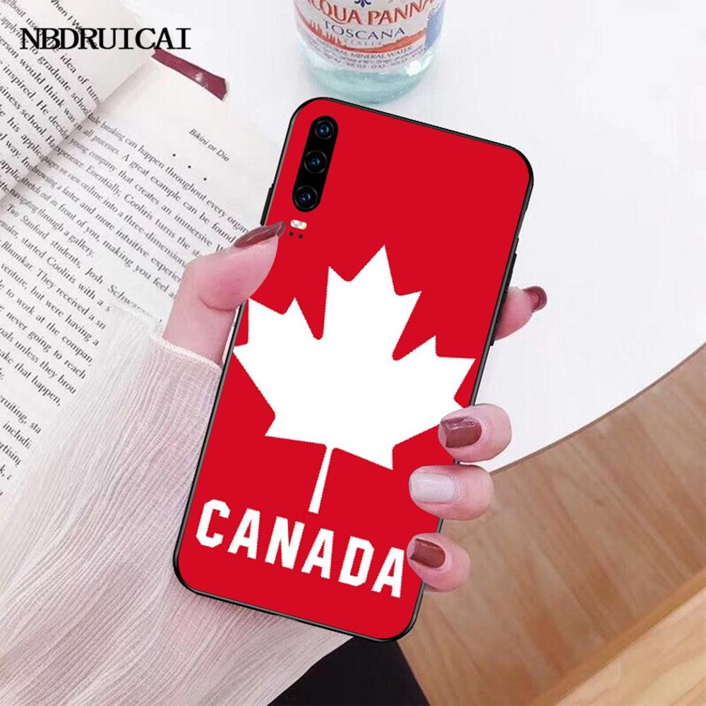 NBDRUICAI קנדה דגל מייפל ליפס שחור רך גומי טלפון כיסוי עבור Huawei Honor 10 9 8 8x 8c 9x 7c 7a נובה 3 3i לייט Y9 Y7 Y6