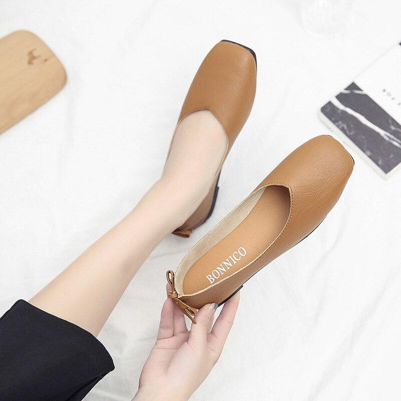 2018 New Style Round-Toe Bow Low-Cut WOMEN'S Shoes Soft Bottom Korean-style Slip-on Pregnant Women Moccosins Grandma Shoes
