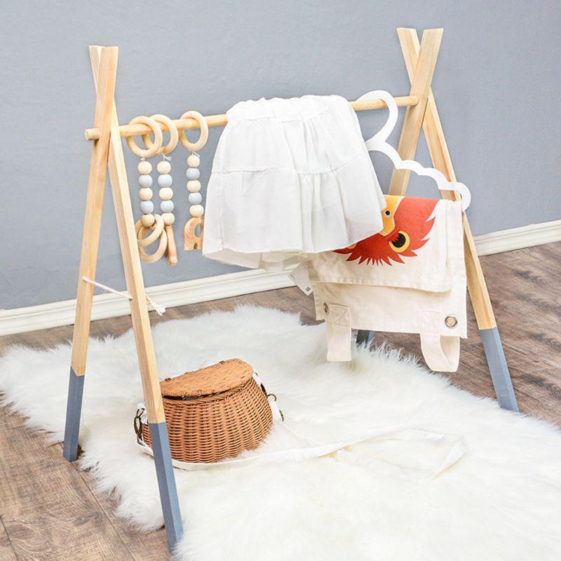 2021 neue Nordic Einfache Holz Fitness Rack Kinder Zimmer Dekorationen Baby Spielen Turnhalle Bar