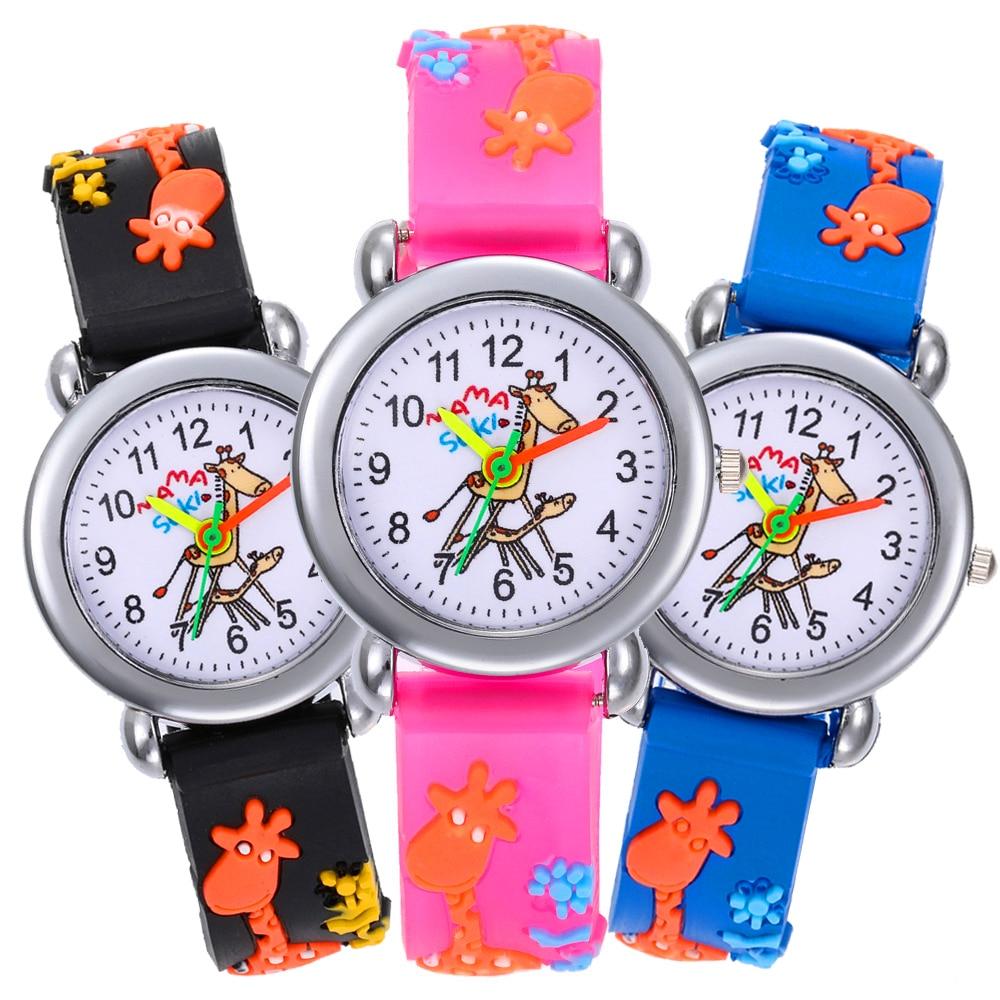 2020 New Cartoon Giraffe Watch Children Girls Boys Students Quartz Wristwatches Kids Watches Baby New Year's Gift For Kid Clock