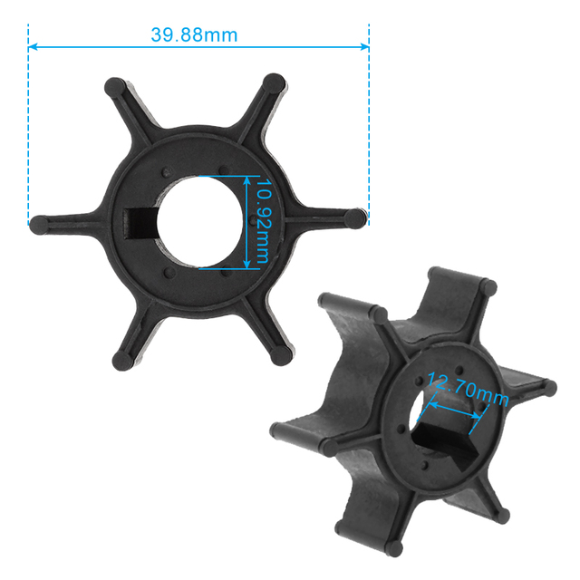 Marine Water Pump Impeller Boat Engine Impeller 6 Blade For Yamaha 4/5HP 2/4-Stroke Outboard Motor Etc Boat Accessories Marine 1