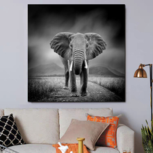 Elephant Animal Art Canvas Poster Nordic Decorative Picture Painting Modern Wall Art Canvas Painting Home Decor Art Prints hot sale green leaf canvas poster nordic decorative pictures painting modern wall art canvas painting home decoration art prints