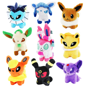 Retail 1Pcs Anime Eevee Plush Mew Umbreon Espeon Jolteon Vaporeon Flareon Glaceon Leafeon Eevee Sylveon Stuffed Doll Toys 12cm