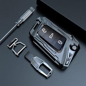 Image 3 - Aviation zinc alloy Car Key Case For VW Volkswagen Polo Golf 4 5 6 7 T5 Passat B6 B5 Skoda Octavia A5 A7 Seat Leon Ibiza Ateca