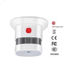 Haozee Mini czujnik dymu z 10 rok baterii Reddot nagrodę EN14604 certyfikat CE niezależne dymu