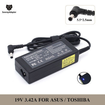 19V 3.42A 5.5x2.5mm 65W AC Laptop Adapter Charger for Asus X401A X550C A450C Y481 X501LA X551C V85 A52F X555 / TOSHIBA / GATEWAY 1