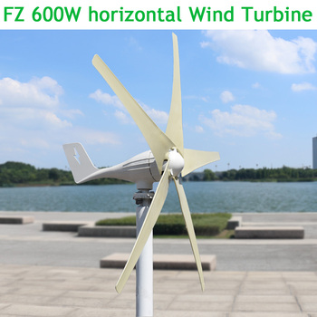 600W 12V 24V horizontal wind turbine power generator for home use with MPPT(boost) controller радиатор отопления royal thermo алюминиевый revolution 350 8 секций