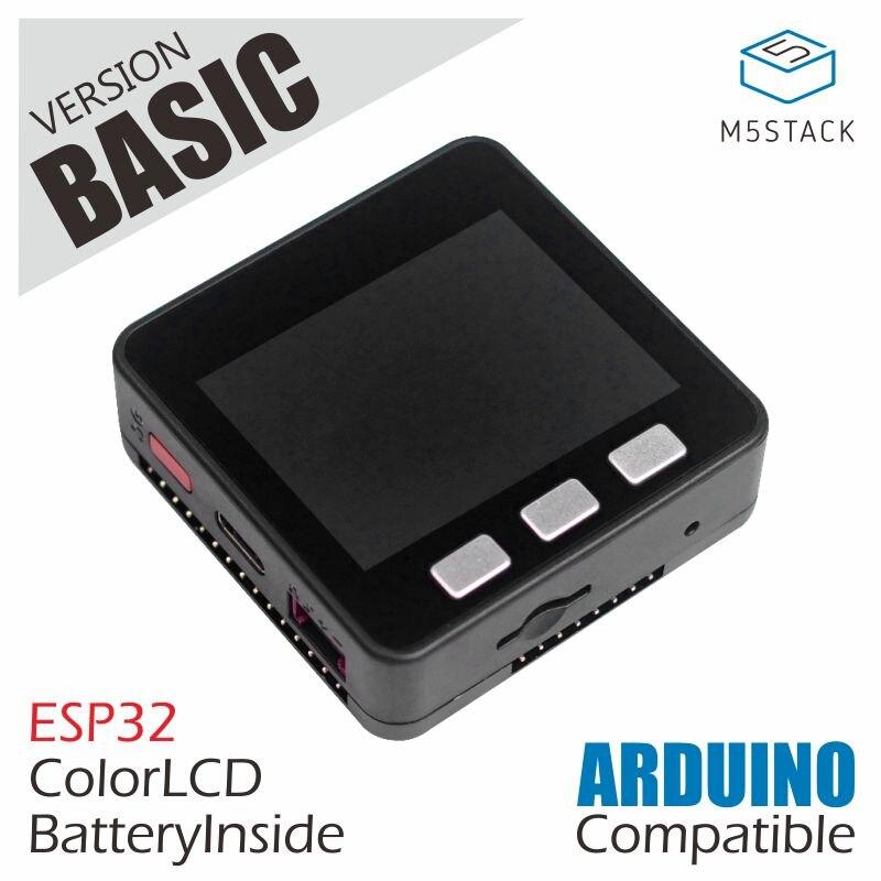 M5Stack официальное предложение на складе! ESP32 базовый набор разработки расширяемый микро Контроль Wifi BLE IoT прототип платы для