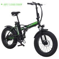 20 inch folding electric bicycle 48v 15ah magnesium alloy wheel 500w snow bike 7 grade variable speed beach bike new model