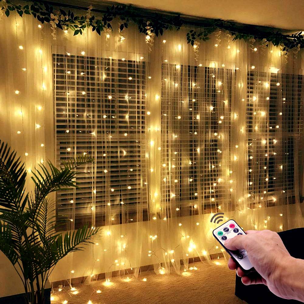 3m LED Fairy Lights USB Garland Curtain String Lights Birthday Wedding Christmas Party Decorations Bedroom Home Holiday Lighting