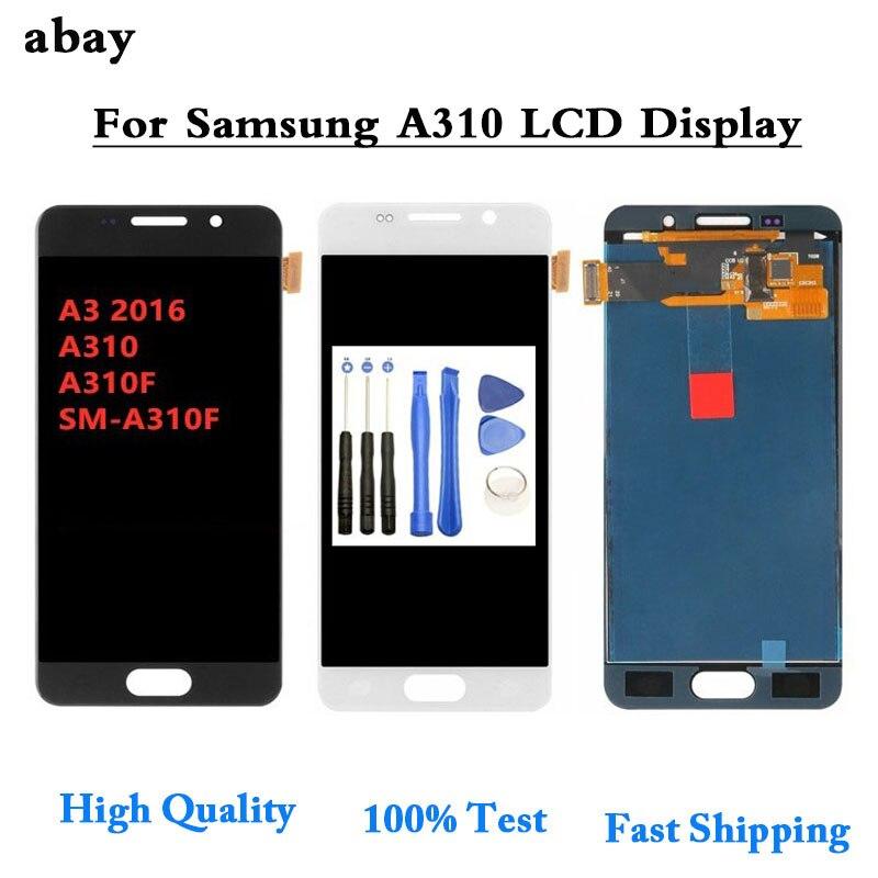 Для SAMSUNG Galaxy A3 2016 A310 A310F A3100 ЖК дисплей сенсорный экран дигитайзер сборка TFT/OLED Высокое качество LCD 4,7