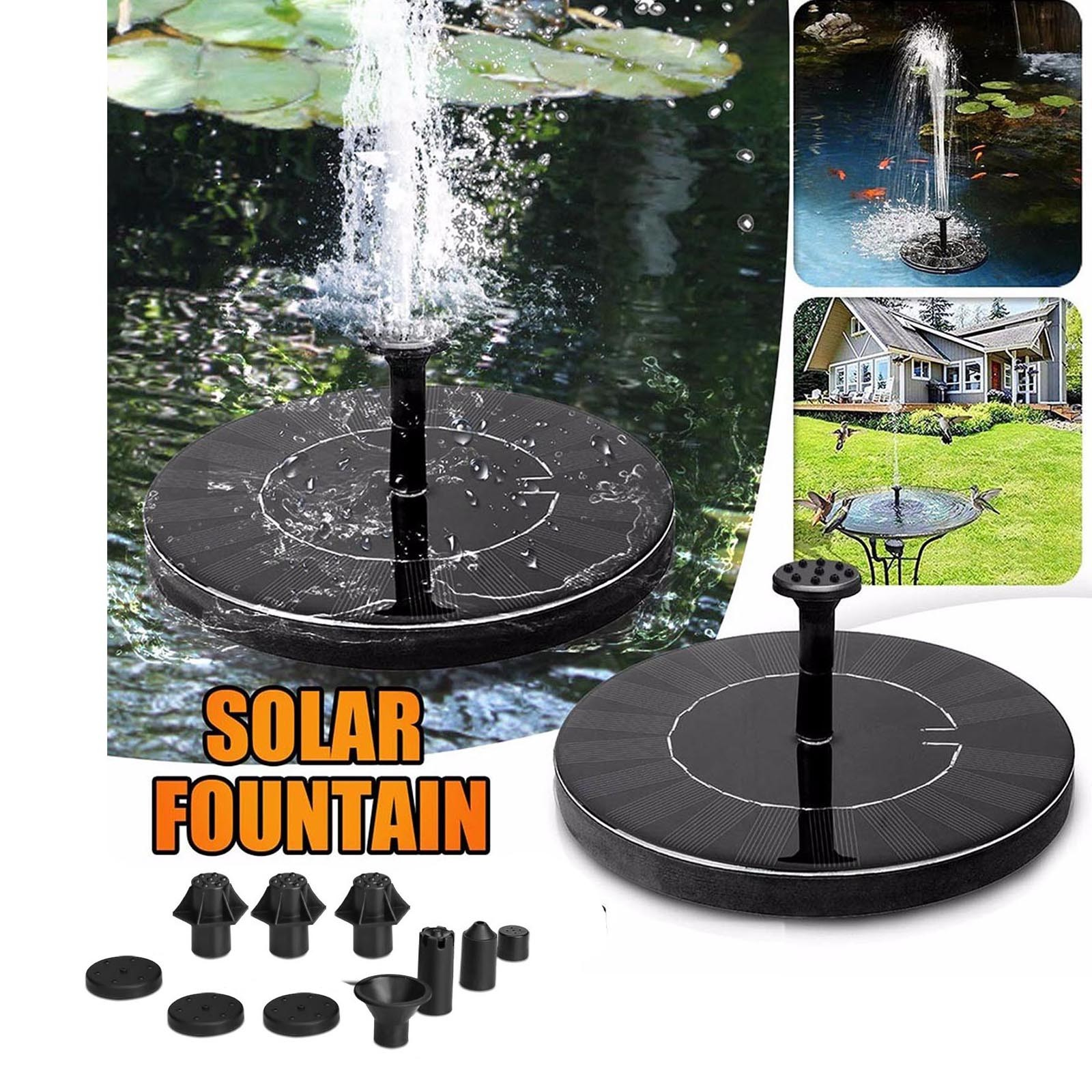 Садовый фонтан на солнечной батарее, пруд, водопад, уличная декоративная панель, плавающий водяной фонтан с насосом для ванной с птицами, 1 В...