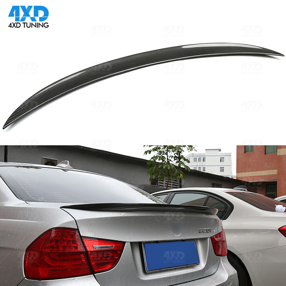 E90 Carbon Fiber Spoiler For BMW E90 M3 325i 335i Rear Trunk spoiler wing Performance Style 2005 2006 2007 2008 2009 2010 2011 image