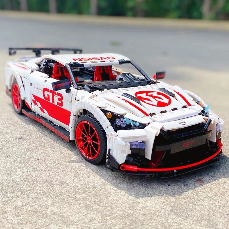 RC MOC-25326 Technic the nismo Nissans GTR GT3 super racing Sport car with motor building blocks toys for kids friend gifts image