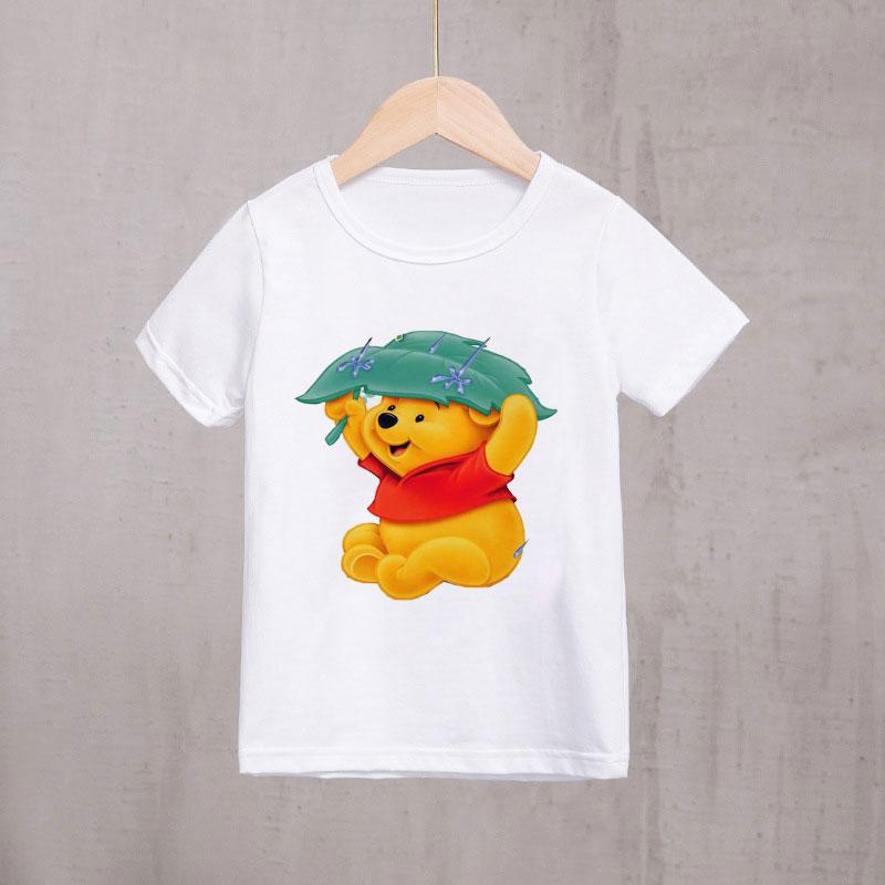 Kid/'s Little Black Panther Round Collar T Shirt