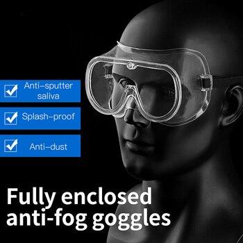 Medical Goggle Waterproof Anti Flu Eyewear Safety Anti Chemical Splash Lab Glasses Dust Proof Eye Protection Transparent Goggles