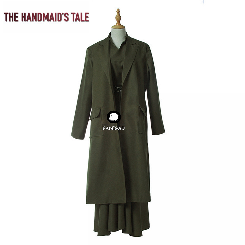 The Handmaid's Tale Cosplay Costumes Aunt Lydia Cosplay Costume Women Halloween Party Costumes Long Red Robe Full Set