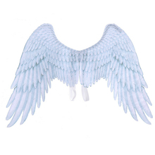 2019 New Fashion Boys Girls Black White Angle Wings Halloween Mardi Gras Cosplay Pretend Play Dress Up Costume Accessory Hot