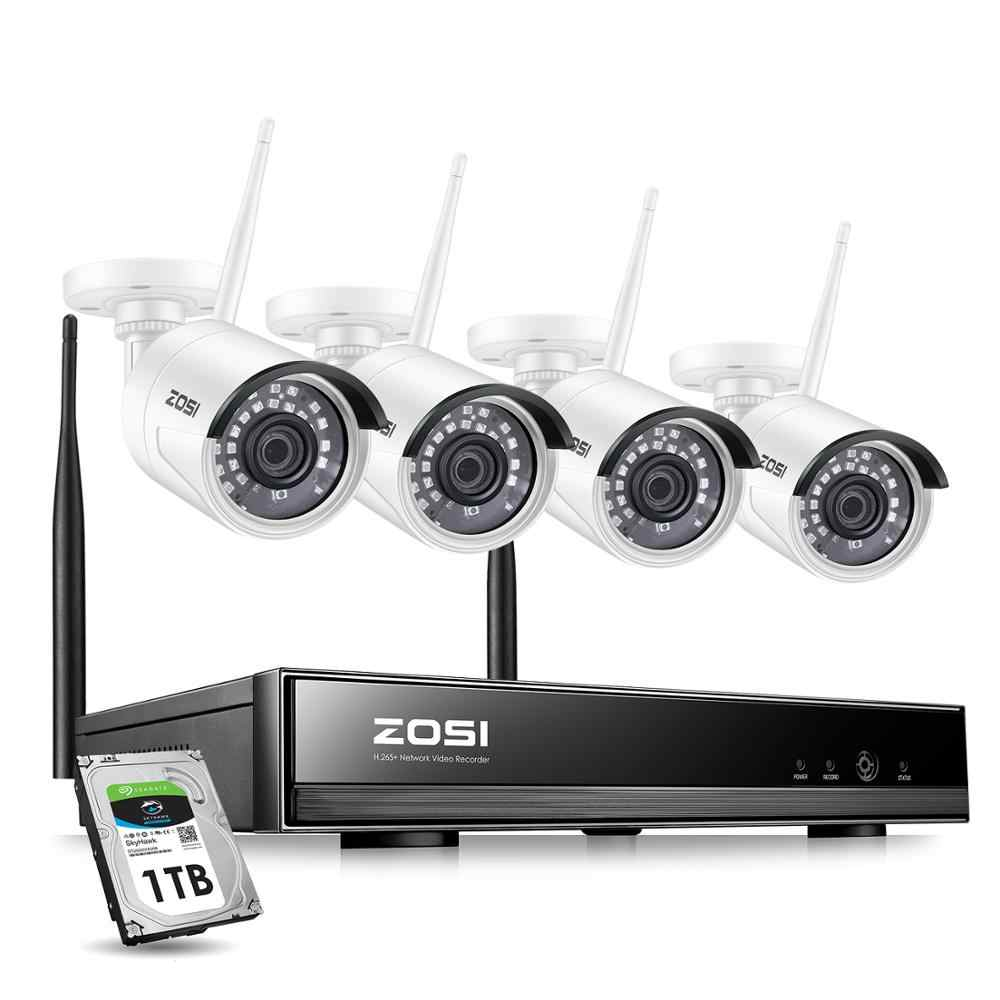 ZOSI 8CH 1080P HD WiFi NVR 2CH/4CH 2.0MP IR Esterni, impermeabile del CCTV Wireless IP TELECAMERA di Sicurezza Video sistema di sorveglianza Kit