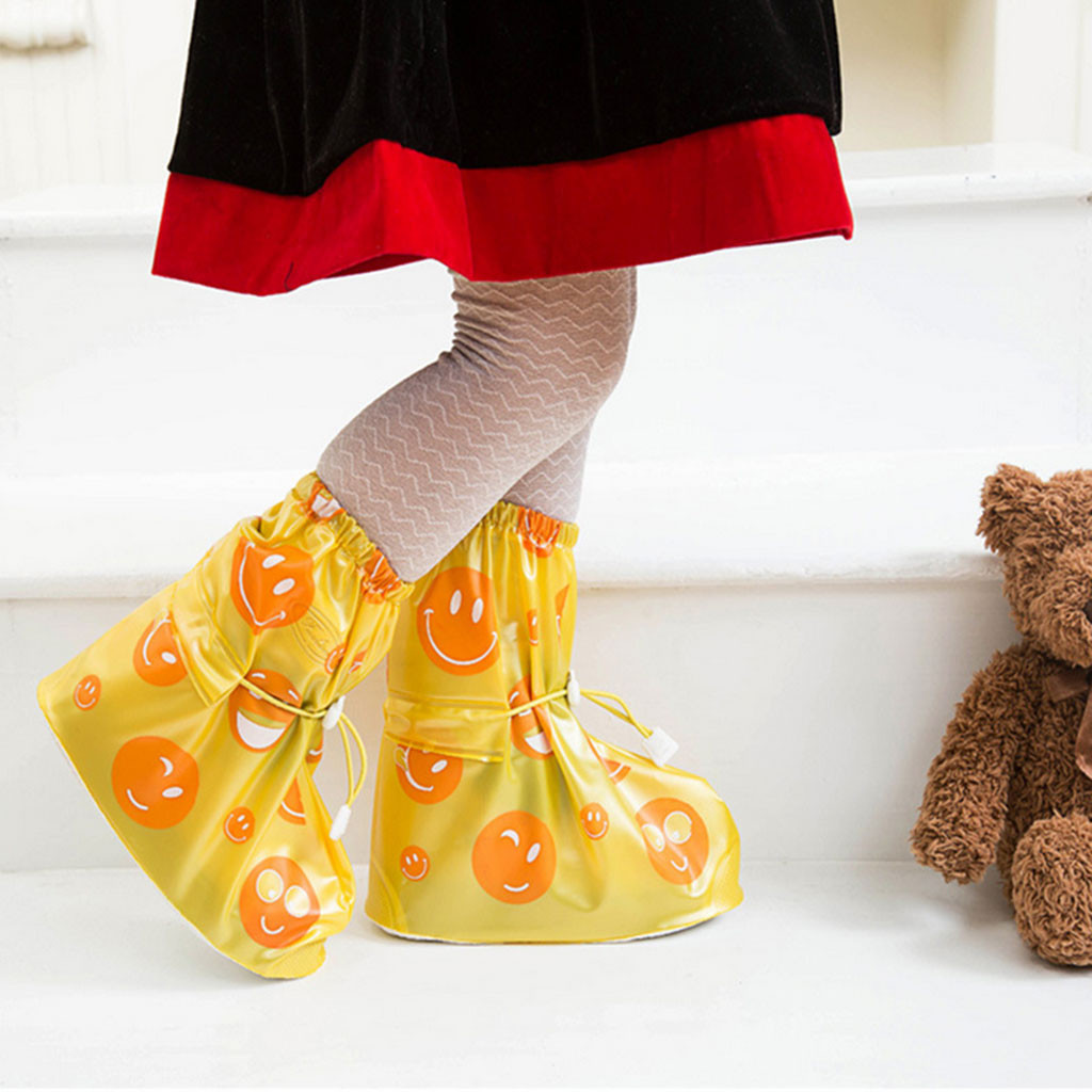 Children's Shoes Cover Rain Boots Rainy Season Waterproof Shoe Cover Baby Girls Cute Cartoon Rain Shoe Cover Reusable Non-slip