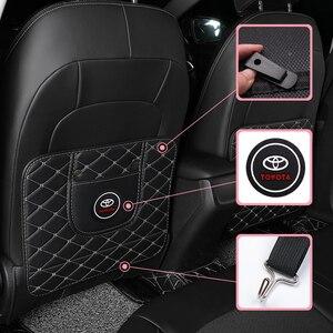 Image 1 - 1 stücke Auto Anti Kick Pad Sitz Zurück Kissen Anti Schmutzig Pad für Toyota Prius Avensis Rav4 Auris yaris Verso Land Cruiser Camry Highl