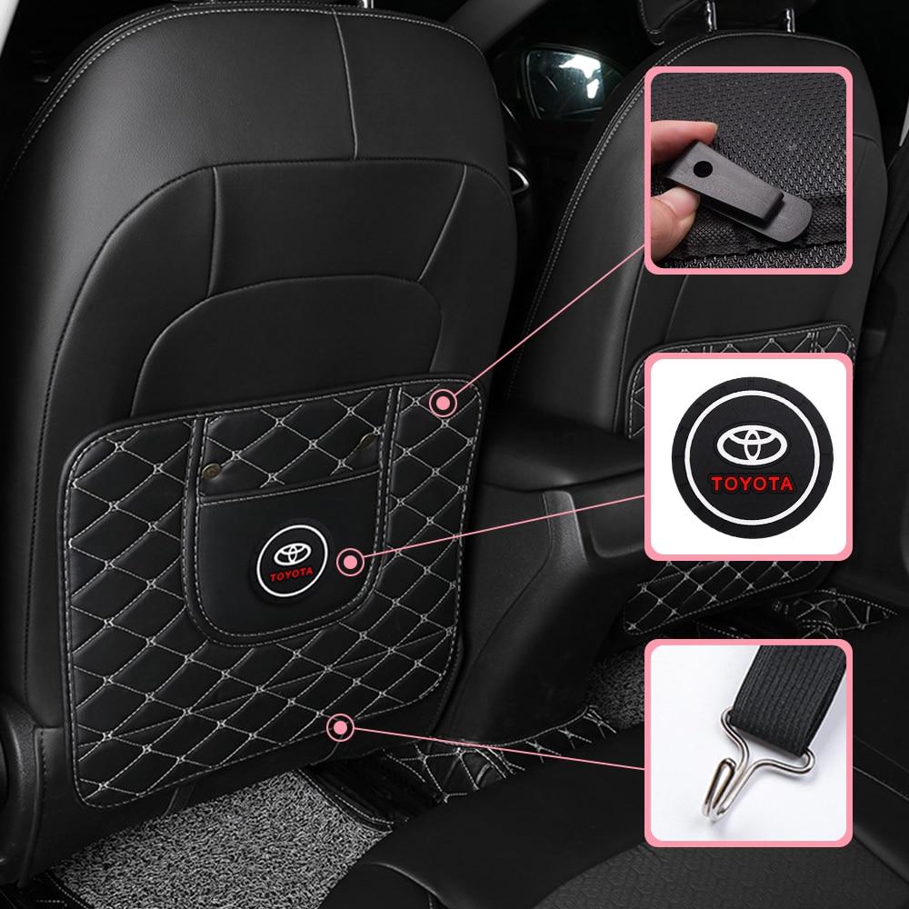 1pcs Car Anti-Kick Pad Seat Back Cushion Anti-Dirty Pad for Toyota Prius Avensis Rav4 Auris Yaris Verso Land Cruiser Camry Highl